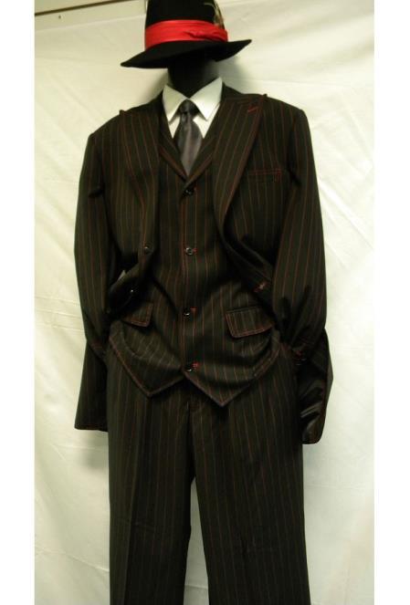 Zoot Suit Gangster Stripe Tuxedo Formal Pants All Sizes Men/'s