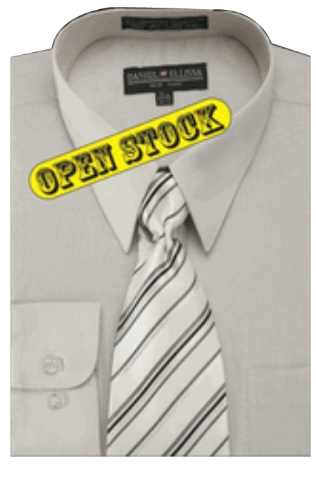 Mens Basic Shirt with Matching Tie and Hanky