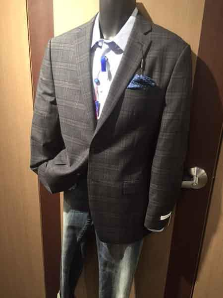 Notch Lapel Checked Sport