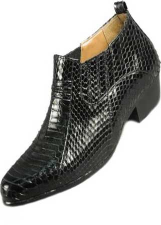 Genuine Snakeskin Boots Black