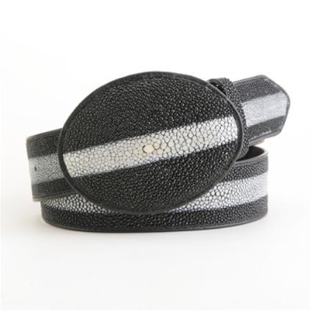 Black Stingray Rowstone Belt