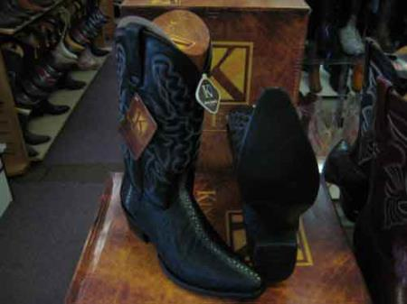 Buy SM200 King Exotic Black Western Cowboy Boot Snip Toe Genuine Stingray mantarraya skin Skin EE+