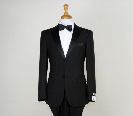 SKU#CBL9063 Mens Classic Black Two Button Tuxedos