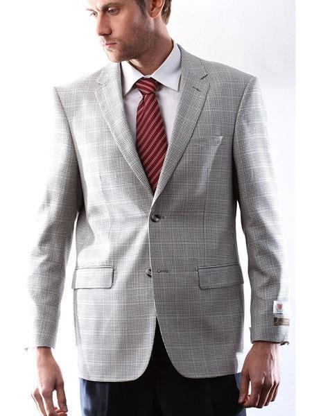 Brand: Caravelli Collezione Suit - Caravelli Suit - Caravelli italy Men's Prontomoda Italian Silk Wool Cashmere Black/White houndstooth checkered Sport Coat