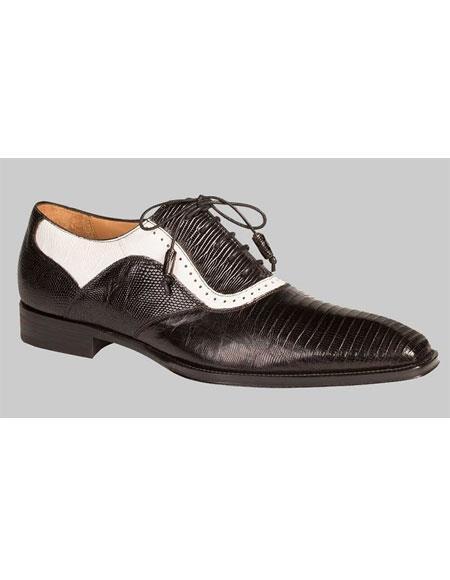 Buy GD515 Men's Handmade Black/White Lizard Skin Red Bottom Shoes Authentic Mezlan Brand