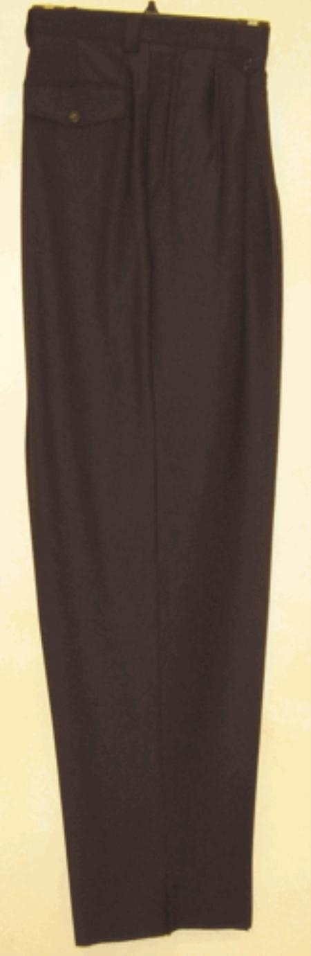 SKU#NH511 long rise big leg slacks Black wide leg dress pants Pleated baggy dress trousers