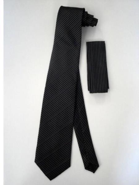 Tie Set Black W/