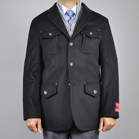 Black Wool/ Cashmere 3