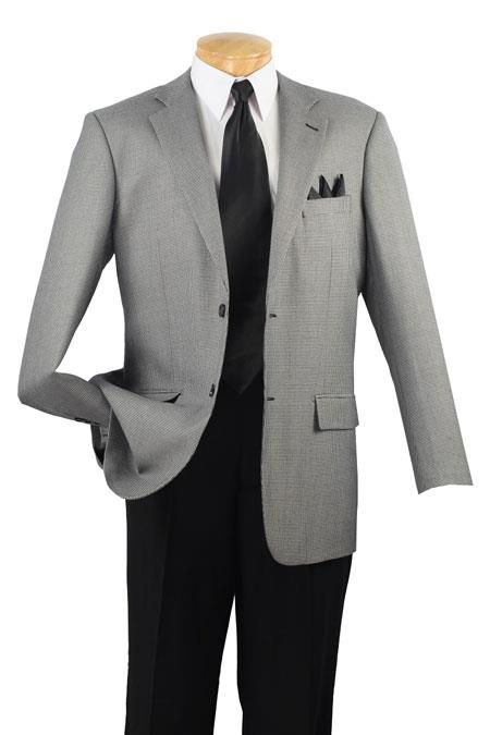 Men's 100% Luxurious Wool Sport Coat Black houndstooth checkered