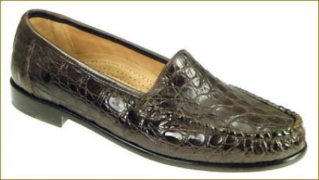 SKU# EAR552 SANTO -135. Black or Brown Genuine Crocodile.