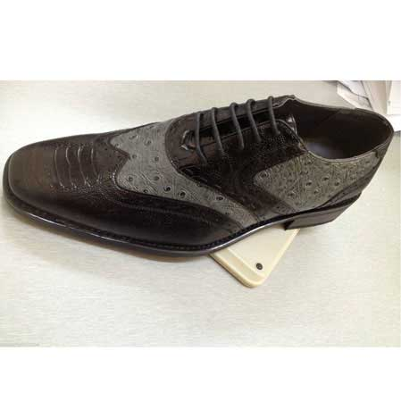 Wing-tip Design Dress Shoes