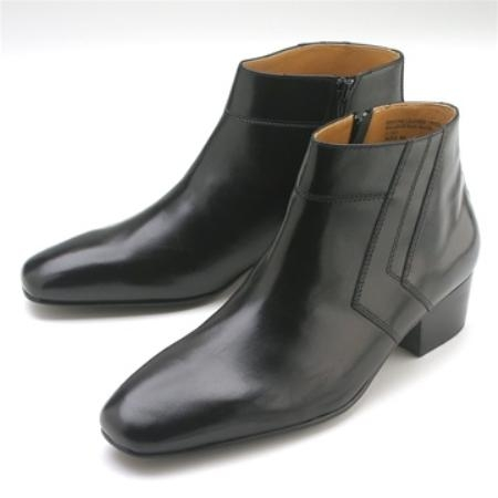 SKU#PJ222 Black Calfskin Demi Boot $750