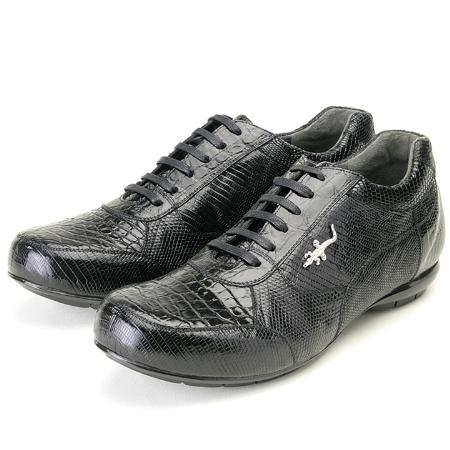 SKU#AZ209 Black, Genuine Lizard/Crocodile by Belvedere Sneakers $219