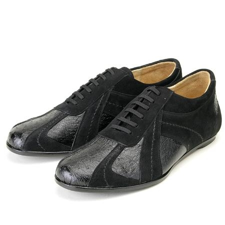 SKU#DY792 Black, Genuine Ostrich/Suede by Belvedere