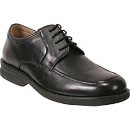 SKU#24821 Black Handsome 4-eyelet blucher in Nappa Calf leather featuring moc toe $79