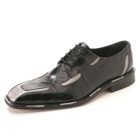 SKU#RG3976 Black/Light Grey Body Alligator & Ostrich Leg $875