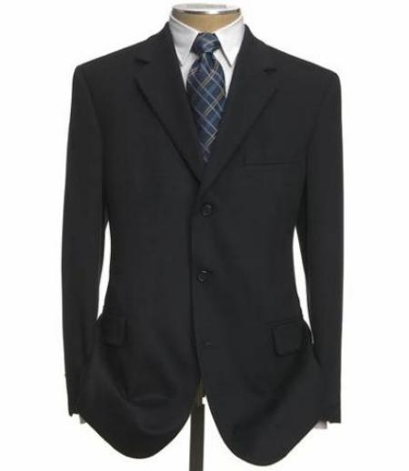 SKU# 173BVN Black Super 100 Wool 3 Buttons Mens Dress Business Suits $119
