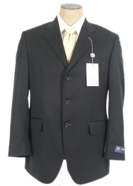 SKU# GZ250 Black Super 140s Wool Mens Suits 3 Buttons