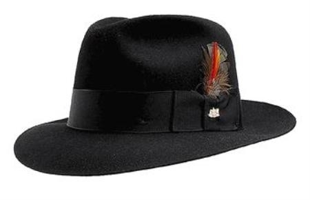 SKU# TB2 Black Untouchable Fedora Hat Very Soft and Silky Sovereign Quality Finish $49