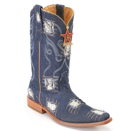 SKU#HQ77 Blue Jean XXX 3X Toe Denim Boot