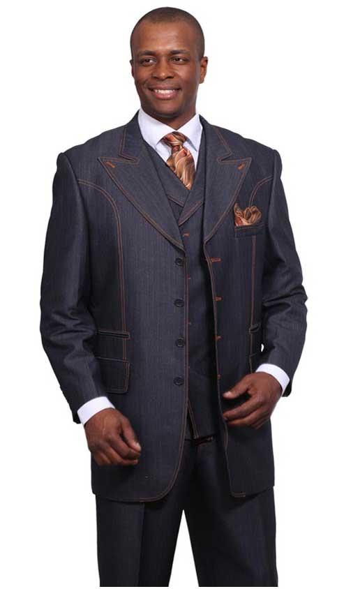 Blue Denim Style Wool