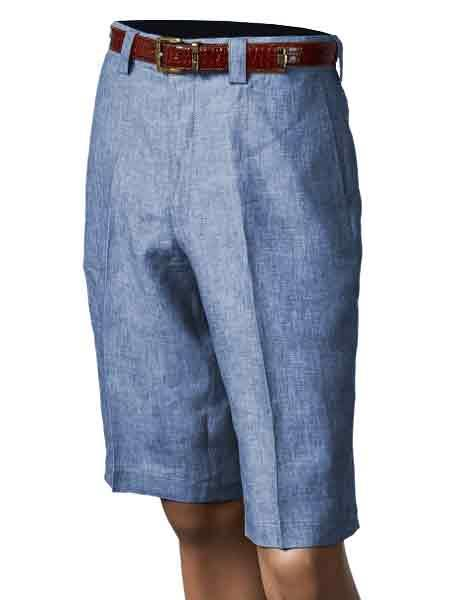 Blue 100% Linen Mens
