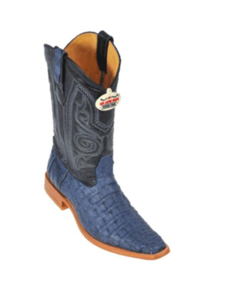 Blue Jean Smooth Cowboy Boots