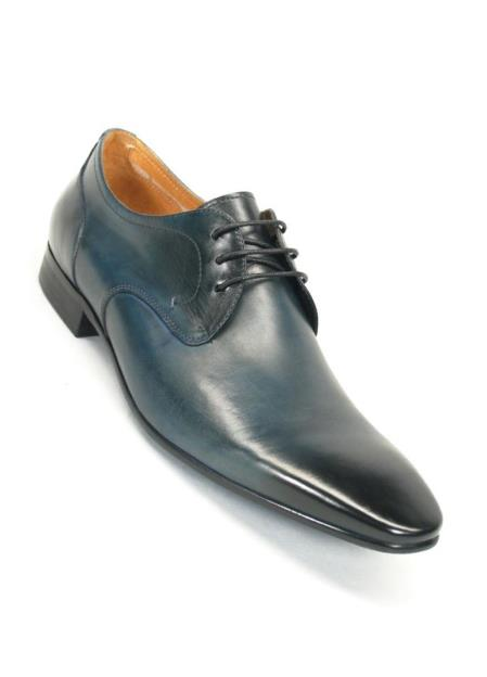 Carrucci Blue Lace Up Style Leather Lining Oxford Shoes