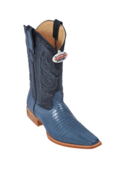 Blue Jean Teju Cowboy Boots