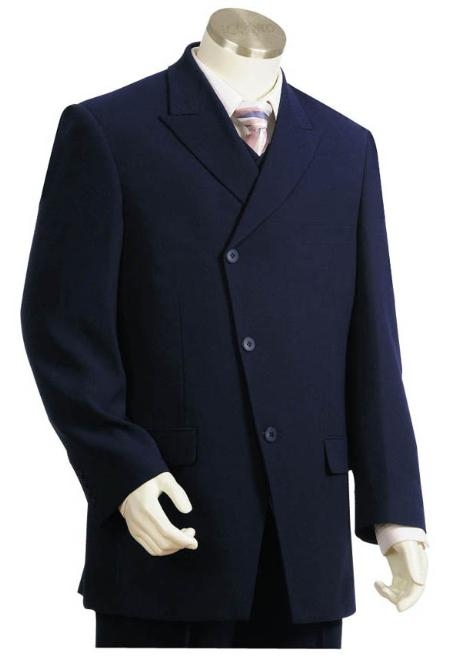 Mens Long Zoot Suit in Dark Blue