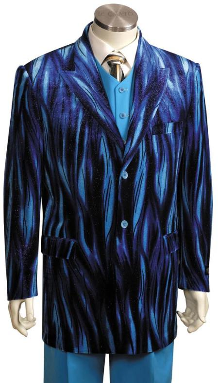 Mens Long Zoot Suit Blue