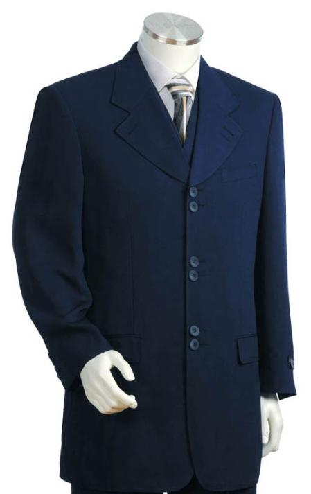 SKU#JK1414 Men's Long Zoot Suits in Blue