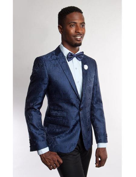 Men's Fashion Stage Blazer ~ Sport coat Blue