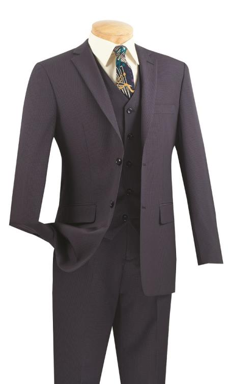 Men's  Slim Fit Suit – Blue - Three Piece Suit