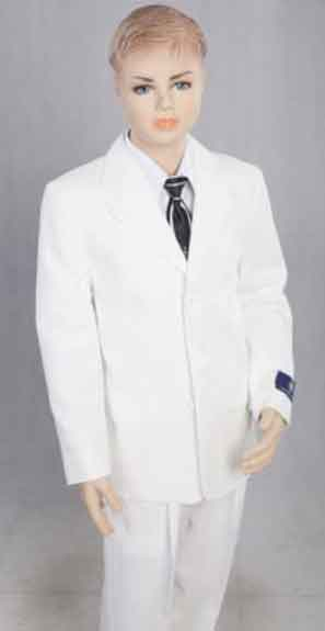 Boy's 2 Piece Kids Sizes  White Three Button With  Suit Prefect for toddler Suit wedding  attire outfits