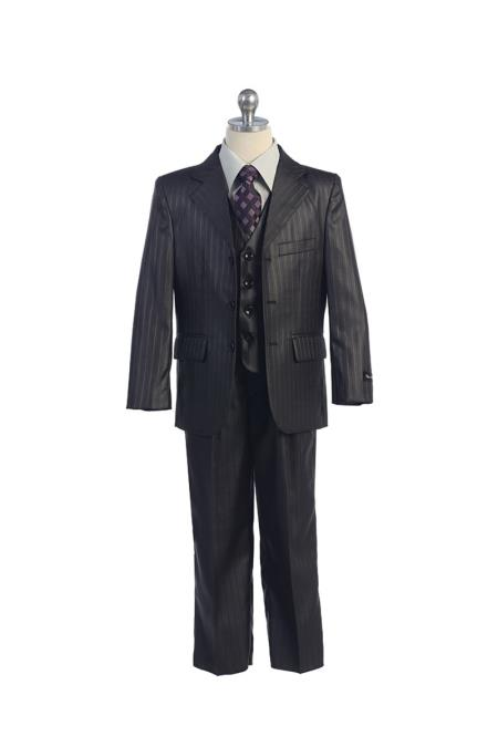Button Notch Lapel Boys