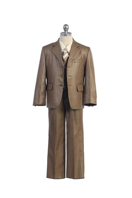 Kids Sizes Pinstripe Tan