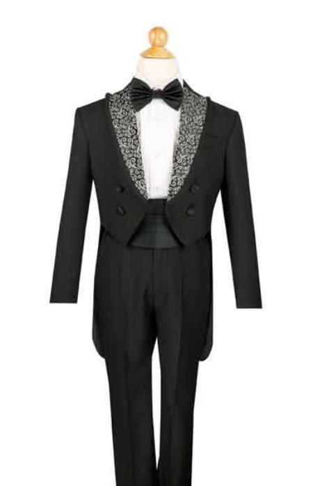 Black 4 Button Tuxedo