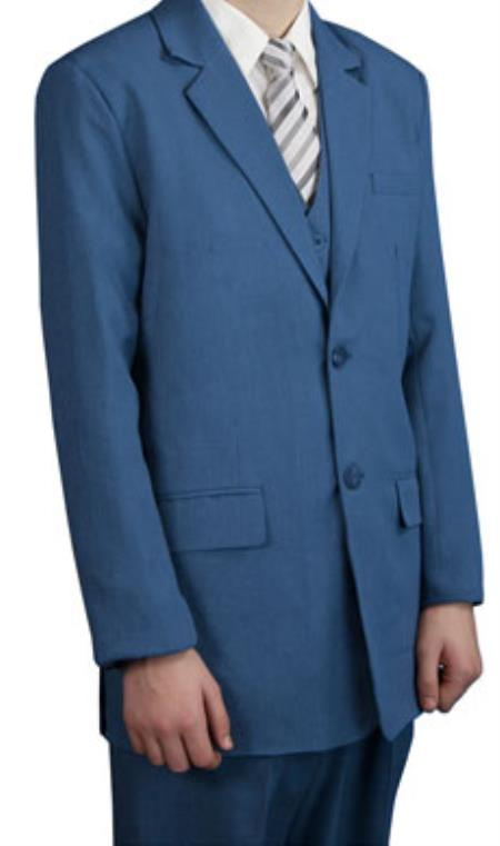 Men's Boy's Kids Sizes Childress Dress Suits Teal Indigo ~ Bright Blue Light Steel Blue Perfect for toddler Suit  wedding  attire outfits