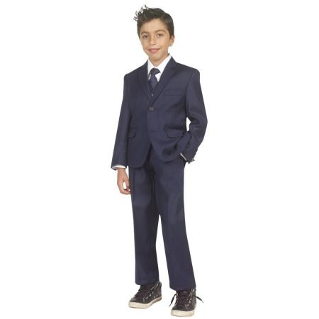 Boys Five Piece Kids Sizes Suit Perfect for toddler Suit wedding  attire outfits With Vest,Shirt And Tie Dark Navy