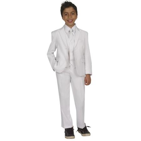 Boys Five Piece Kids Sizes Suit Perfect for toddler Suit wedding  attire outfits With Vest,Shirt And Tie