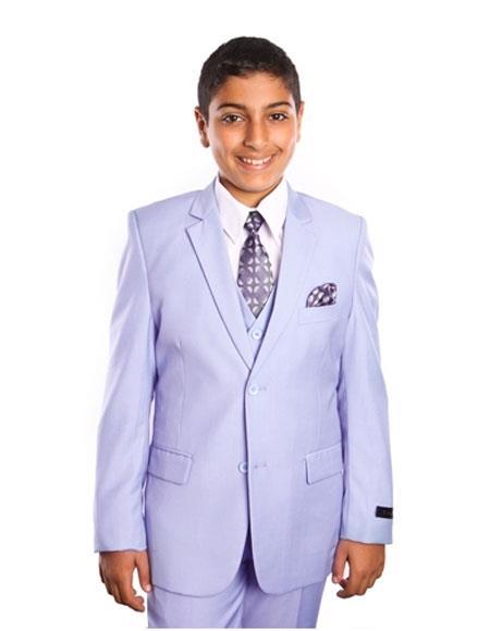 Children Solid Sky Blue  Powder  Toddler Suit Vested 2 Button