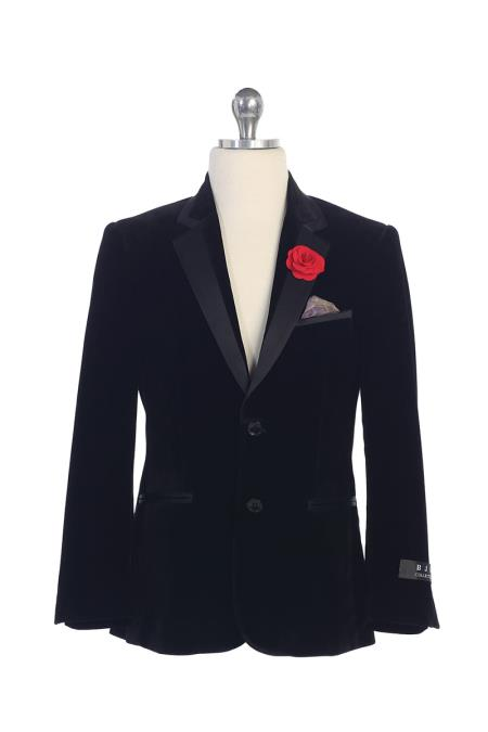 Navy Blue Boys Kids Sizes 2 button Centre Vent Notch Lapel Jacket Perfect for toddler wedding  attire outfits