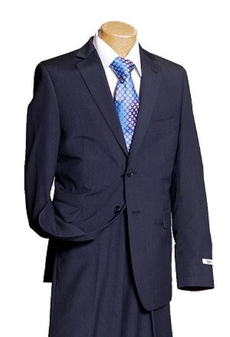 Boys Dark Navy Pinstripe Kids Sizes Designer Suit Perfect for toddler Suit wedding  attire outfits Dark Blue Suit