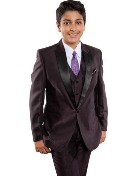 5-Piece Purple Suit Set