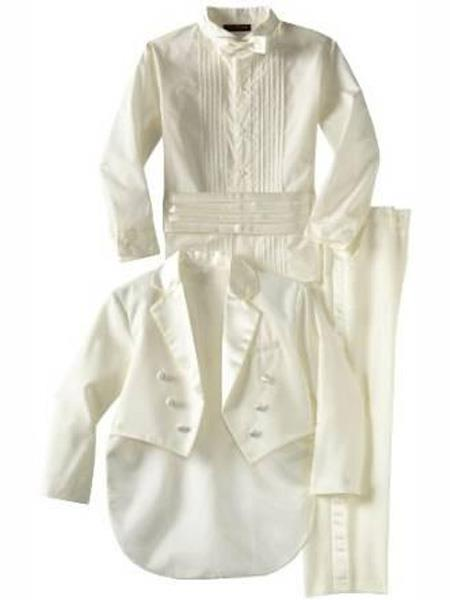 Baby Boys Off White Kids Sizes Tuxedo Suit Perfect for toddler Suit wedding  attire outfits