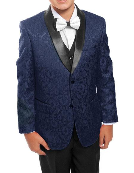 Kids ~ Children ~ Boys ~ Toddler Suit Kids Sizes Tuxedo Vested Suit Perfect for toddler Suit wedding  attire outfits Dark Navy/Black