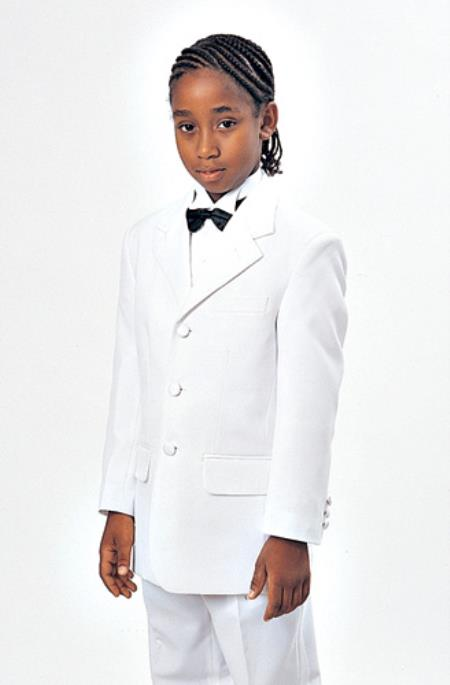 Boys White Kids Sizes Wedding Suit