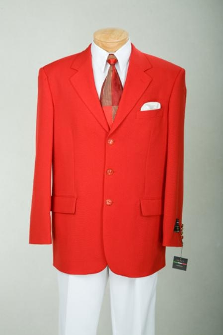 SKU#Z7 Single Breasted, 3 Button Blazer Metal Buttons Year Round Weight $89