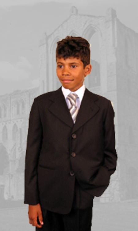 SKU42987 B-100 Boys Brown Suits Hand Made $79 Mens Discount Suits By Style and Quality Boys Suits $79